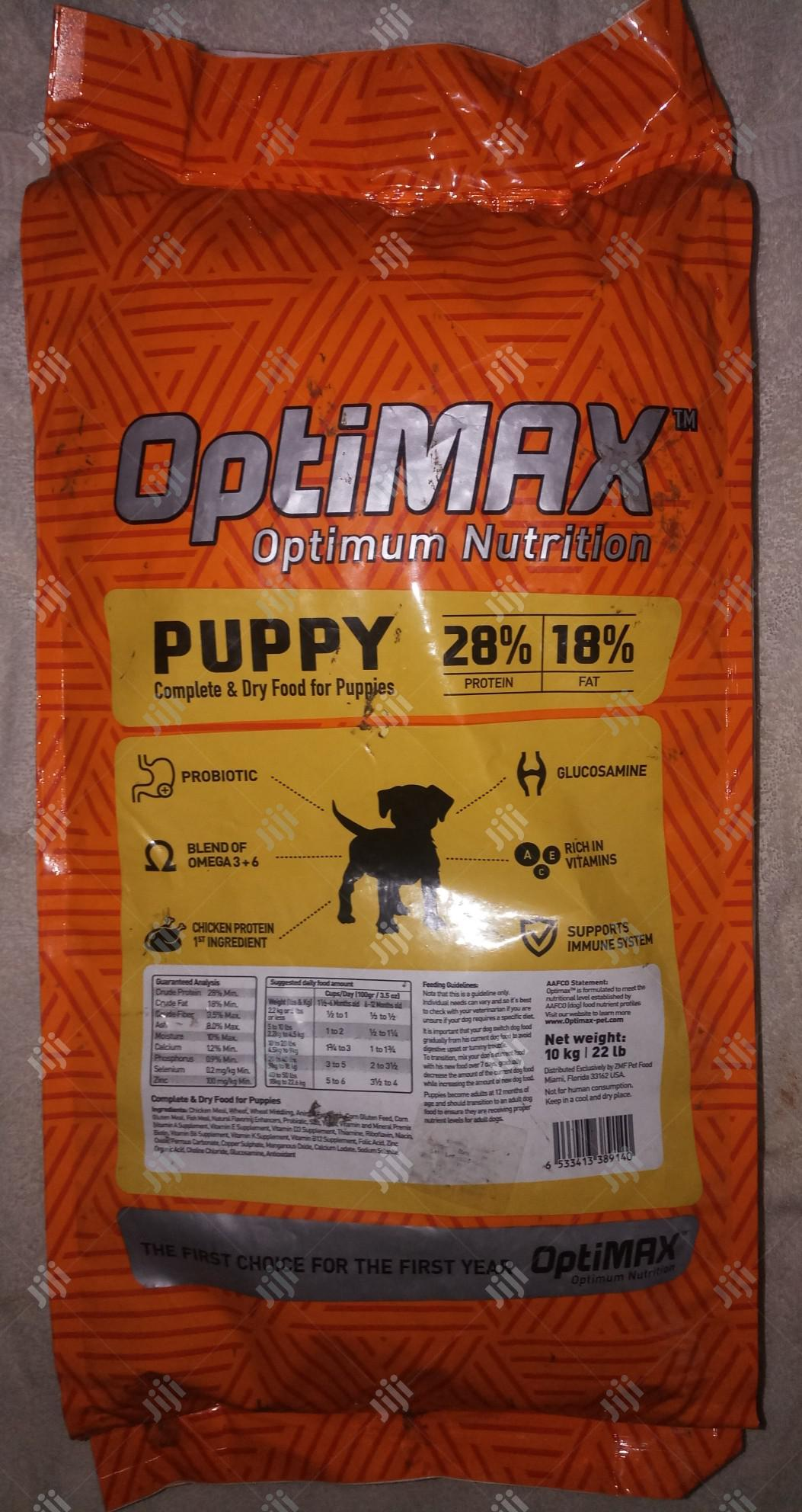 Optimax Puppy Dry Dog Food 10kg Bag