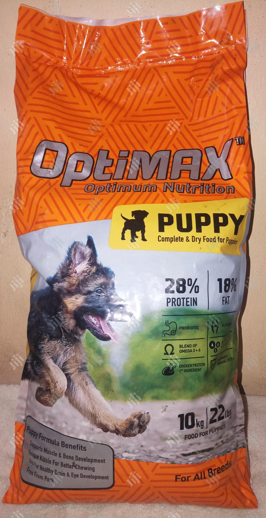 Optimax Puppy Dry Dog Food 10kg Bag | Pet's Accessories for sale in Amuwo-Odofin, Lagos State, Nigeria