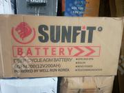 Sunfit Battery 200ah 12volts | Solar Energy for sale in Lagos State, Ojo