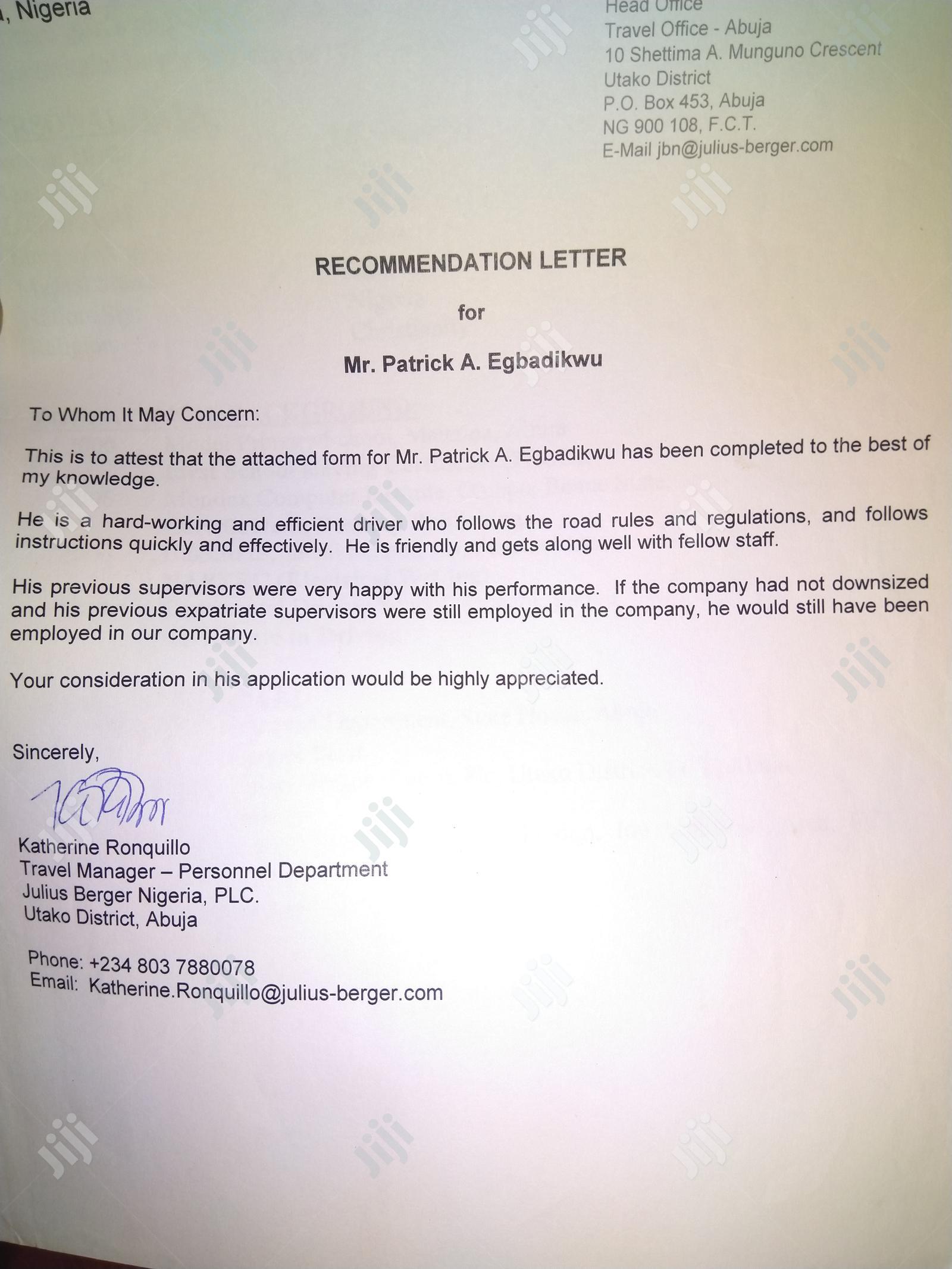 Driver CV | Driver CVs for sale in Nyanya, Abuja (FCT) State, Nigeria