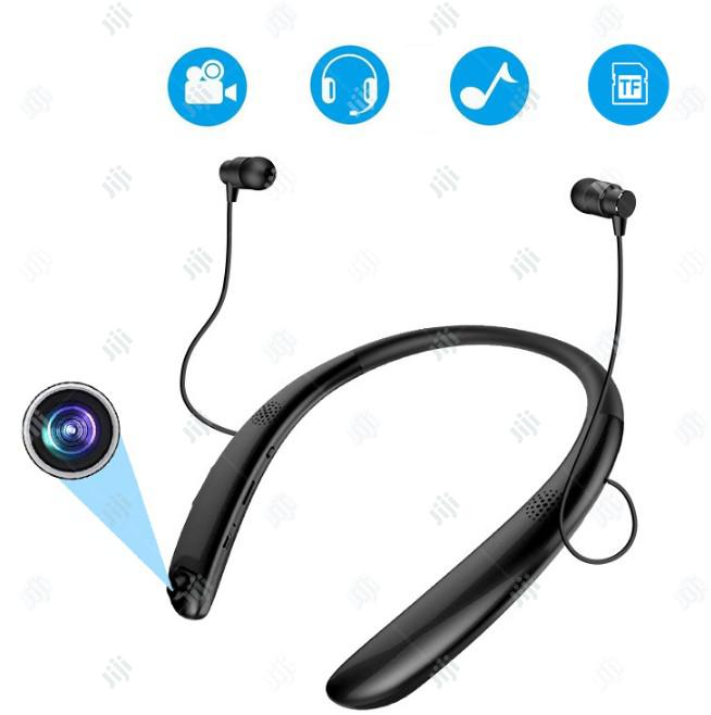 Bluetooth Headsets With Video Recording Camera, Neckband Bluetooth
