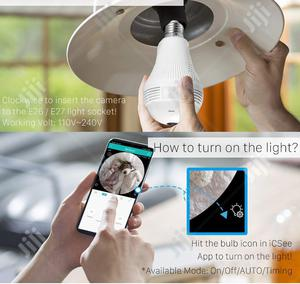 360 Degree Wifi Security IP Camera, Panoramic Light Bulb Camera   Security & Surveillance for sale in Lagos State, Ikeja
