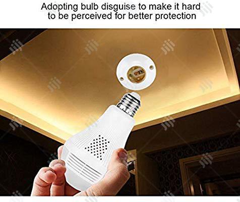 1080P WIFI Bulb Camera 360° Spy Camera For Remote Home Motion Camera