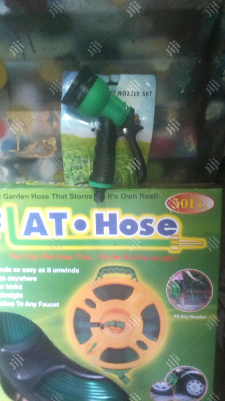 New Flat Garden Watering Hose And Sprinkler.