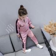 Girl's Pink 2pc Set Tracksuit   Children's Clothing for sale in Ondo State, Akure