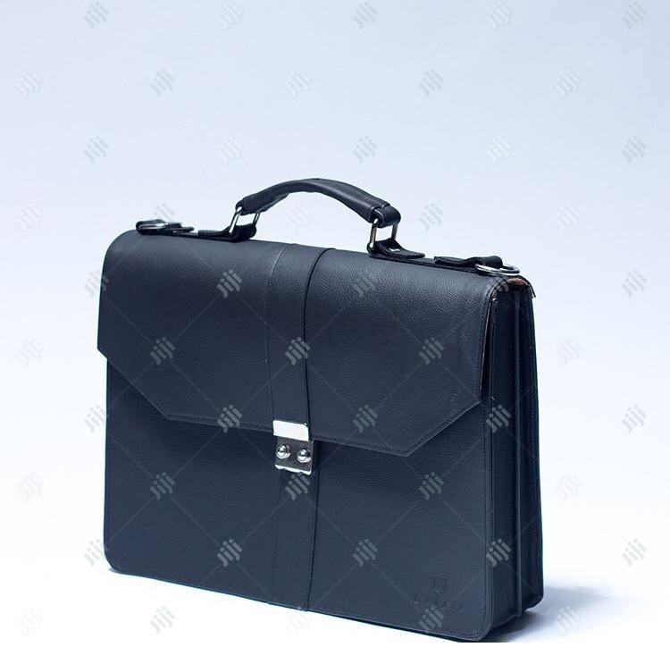 Genuine Leather Office Bag Available in Blue Color Order Yours Now