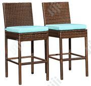 Deluxe Garden Rattan Bar Stool W/ Cushion | Furniture for sale in Katsina State, Dandume
