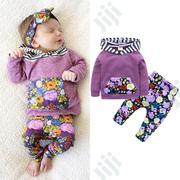 Baby Girl Floral Hoodie 2pc Set   Children's Clothing for sale in Ondo State, Akure