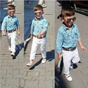 Boy 3pc Cloth Set - Shirt, Trouser And Belt   Children's Clothing for sale in Ondo State, Akure