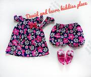 2pcs Pinky Floral Baby Dress | Children's Clothing for sale in Lagos State, Amuwo-Odofin