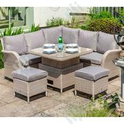 Exclusive Rattan Garden Round Corner Sofa For Patio,Indoors Use | Manufacturing Services for sale in Sokoto State, Gudu LGA