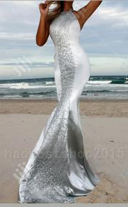 NEW Women Long Mermaid Sequins Silver Formal Prom Party Evening Dress | Clothing for sale in Rivers State, Port-Harcourt