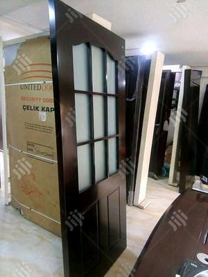 Wooden Door With Glass | Doors for sale in Lagos State, Ipaja