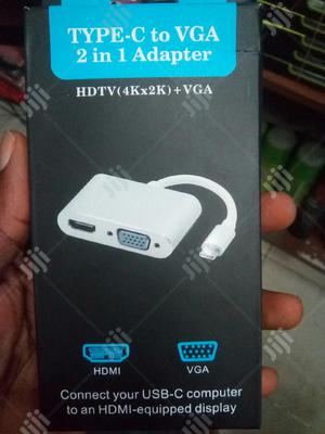 Usb-c Type-c To Hdmi Vga Converter Adapter   Accessories & Supplies for Electronics for sale in Lagos State, Ikeja
