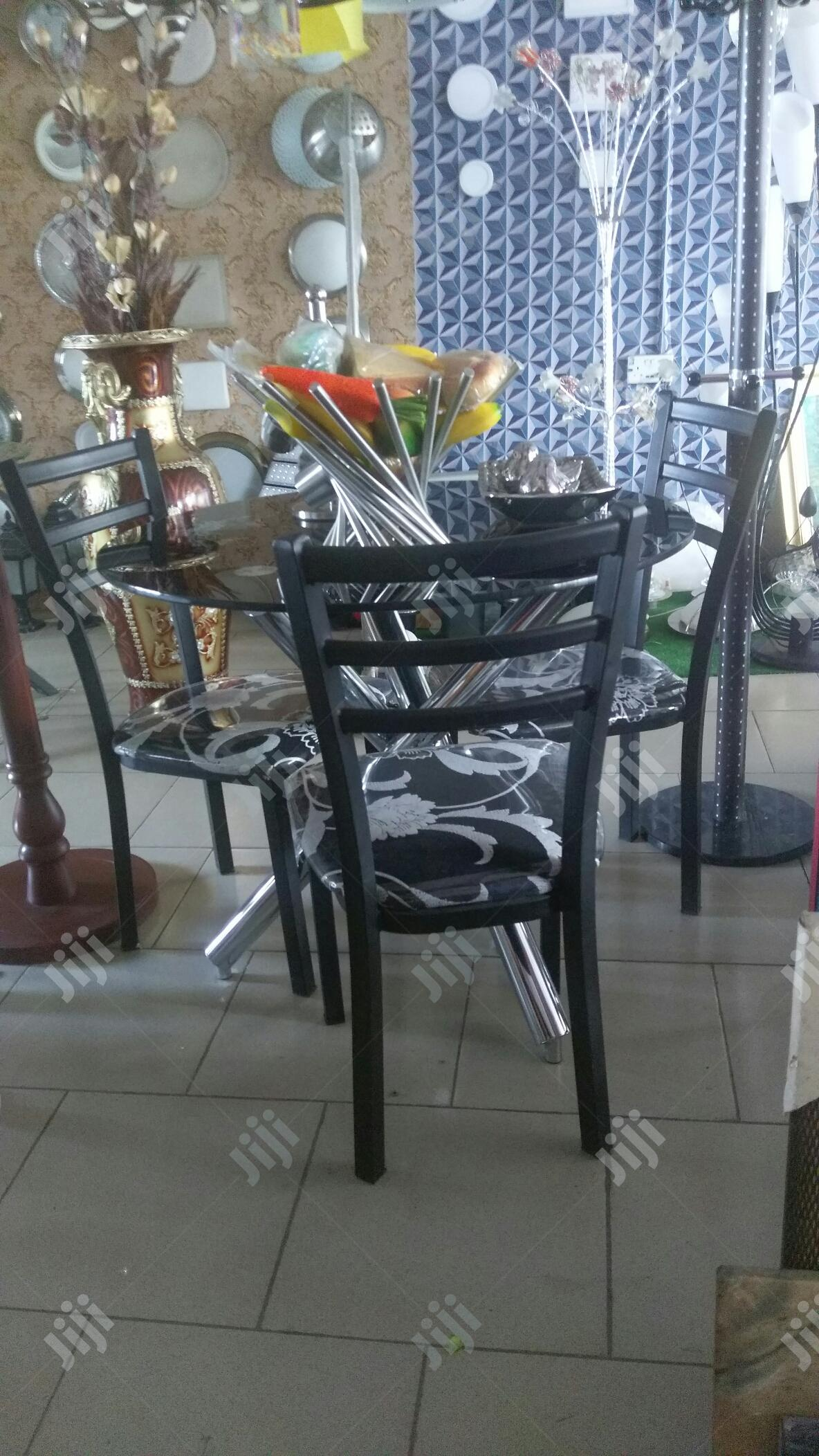 Classic Dining Set With Very Strong Iron Chair | Furniture for sale in Ikoyi, Lagos State, Nigeria