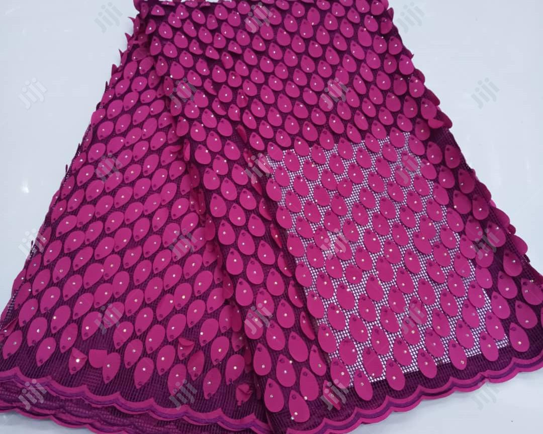 Quality Lace Fabric Pink