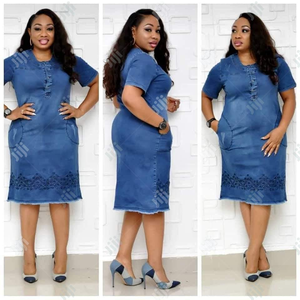 Ladies Casual Jeans Dress | Clothing for sale in Lagos Island (Eko), Lagos State, Nigeria