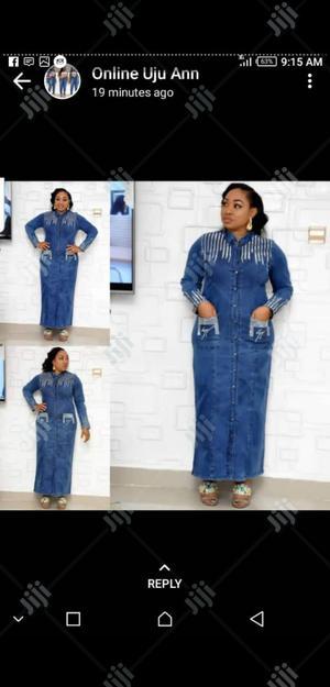 Ladies Formal Long Jeans Dress   Clothing for sale in Lagos State, Lagos Island (Eko)