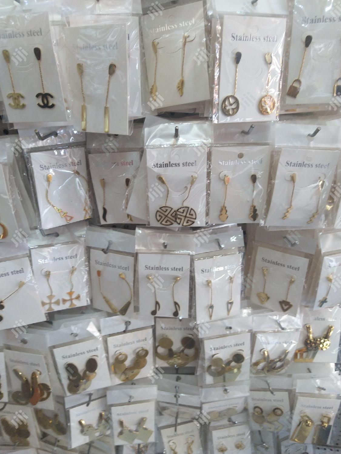 Stainless Steel Drop Earrings   Jewelry for sale in Surulere, Lagos State, Nigeria