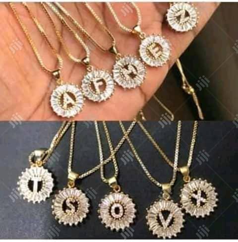 Alphabet Necklace With Stone