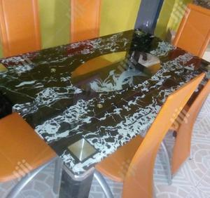 Quality Strong Six Seater Tinted Glass Dining Table | Furniture for sale in Abia State, Umuahia