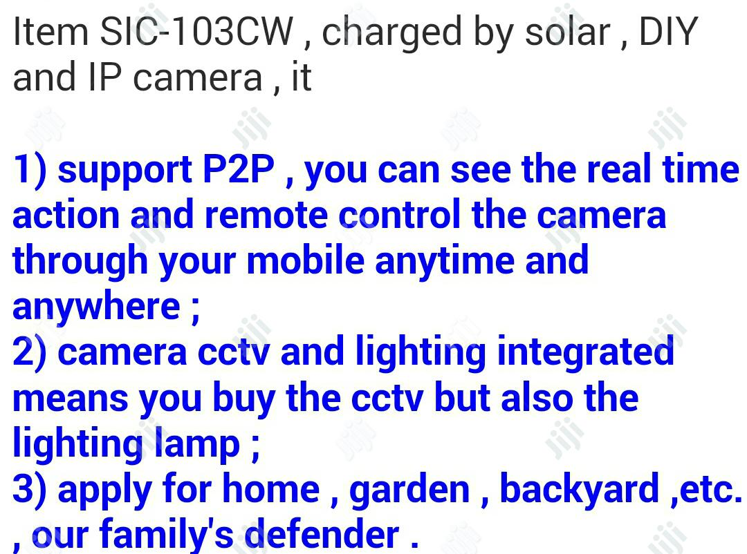 CCTV HD Surviallance Camera Integrated With Solar And Light. | Security & Surveillance for sale in Ikeja, Lagos State, Nigeria