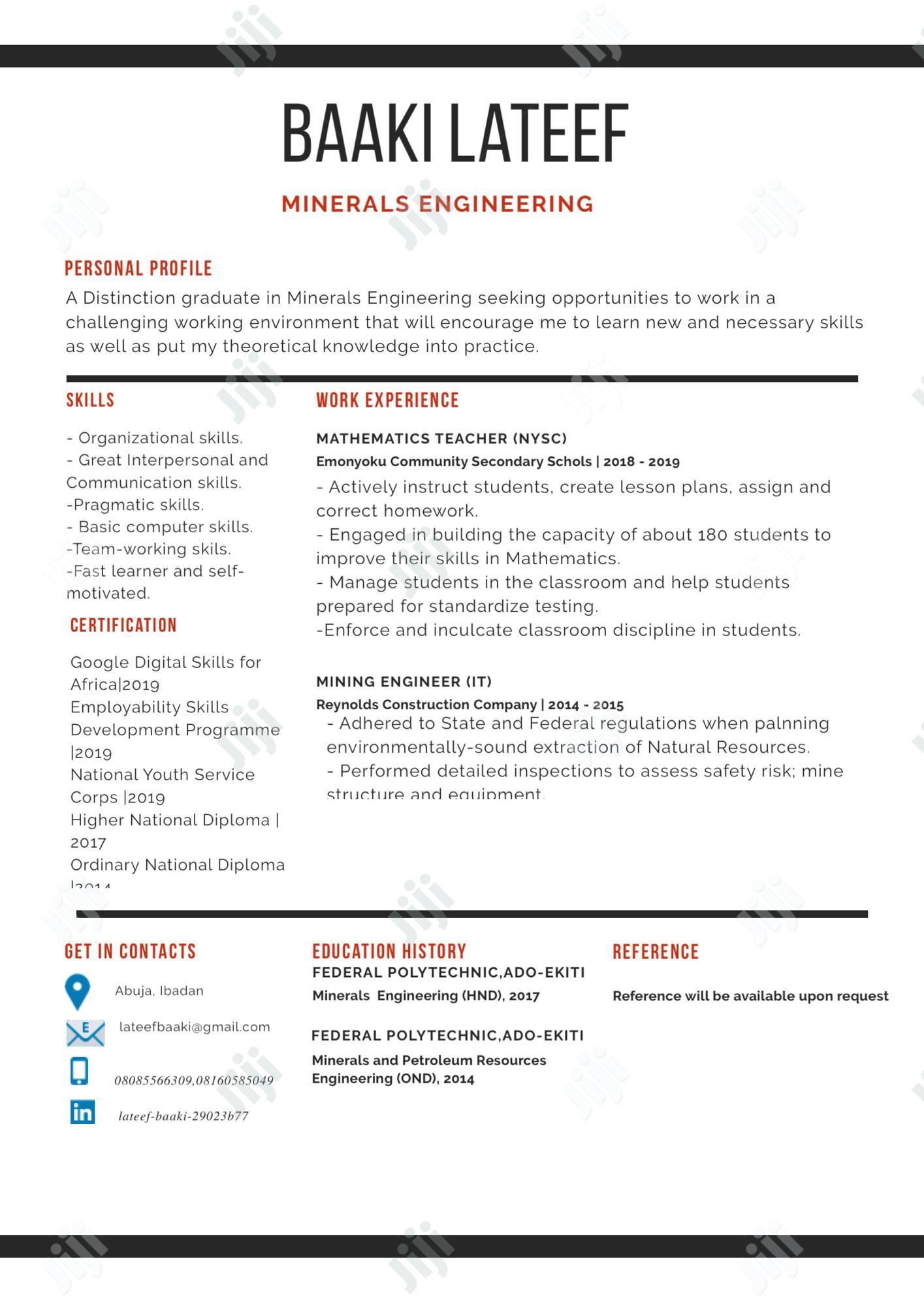Graduate Trainee CV