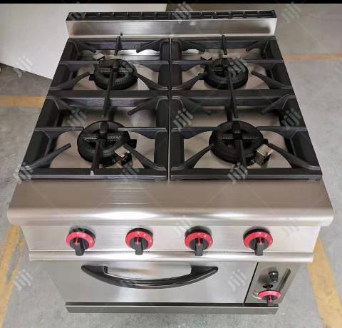 Gas Cooker With Oven 4 Burners
