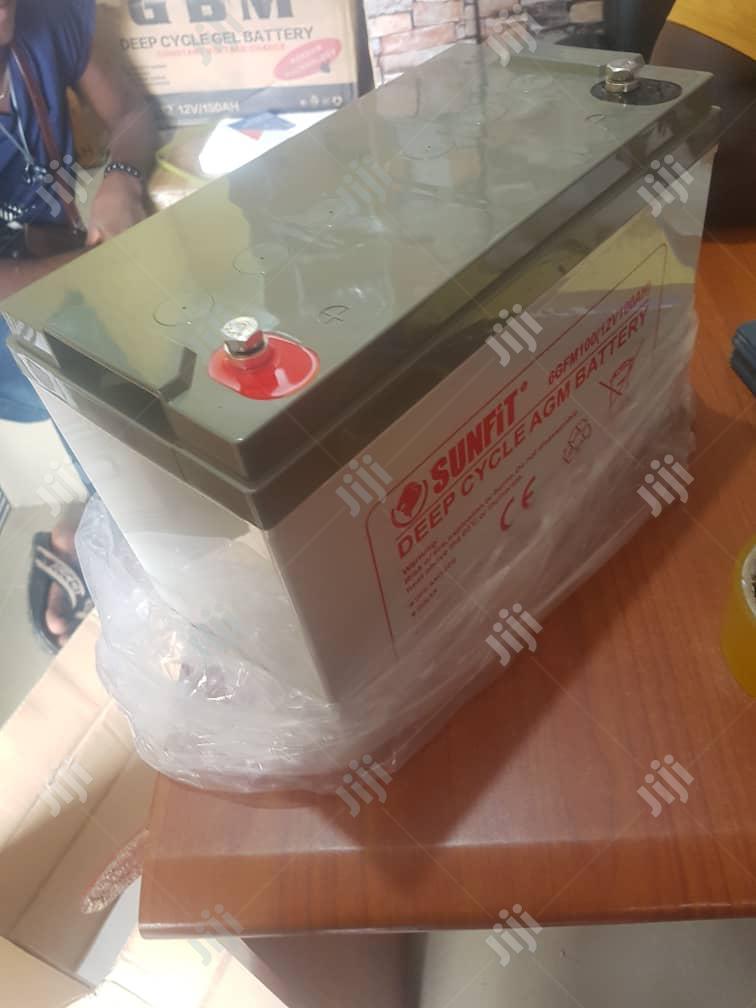 100ah 12volts Sunfit Solar Battery