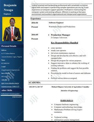 Male Crane Operator | Arts & Entertainment CVs for sale in Lagos State, Surulere