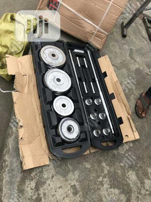 50kg Complete Barbell Weight With Extra Dumbell Rod | Sports Equipment for sale in Lagos State, Ikeja