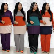 Trending Turkish 2 Piece Color Blocking Trouser Set in 4 Colors.   Clothing for sale in Lagos State