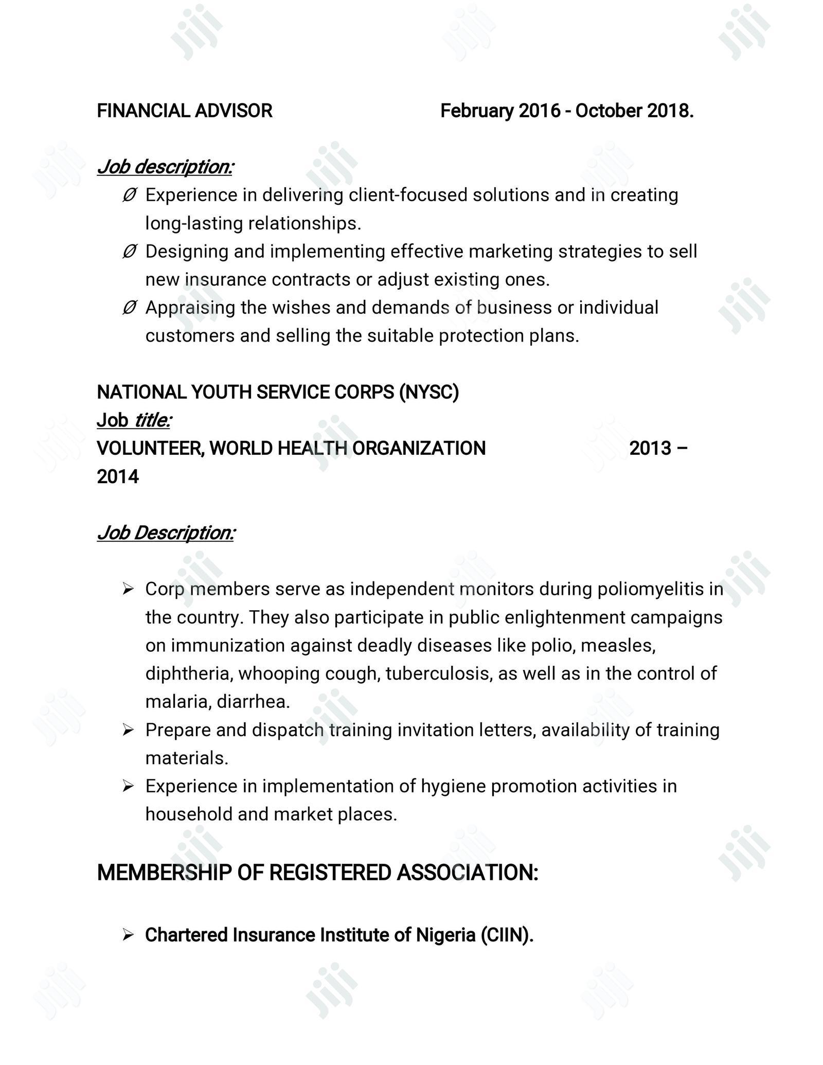 Office Job   Office CVs for sale in Enugu / Enugu, Enugu State, Nigeria