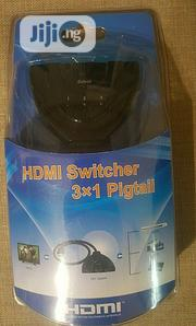 HDMI Switcher 3 X 1 Pigtail Cable | Accessories & Supplies for Electronics for sale in Lagos State, Ikeja