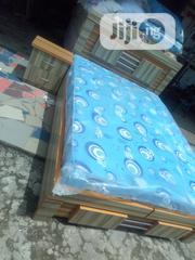 6by4 Bed Frame Wt Mouka Matress | Furniture for sale in Lagos State, Ojo