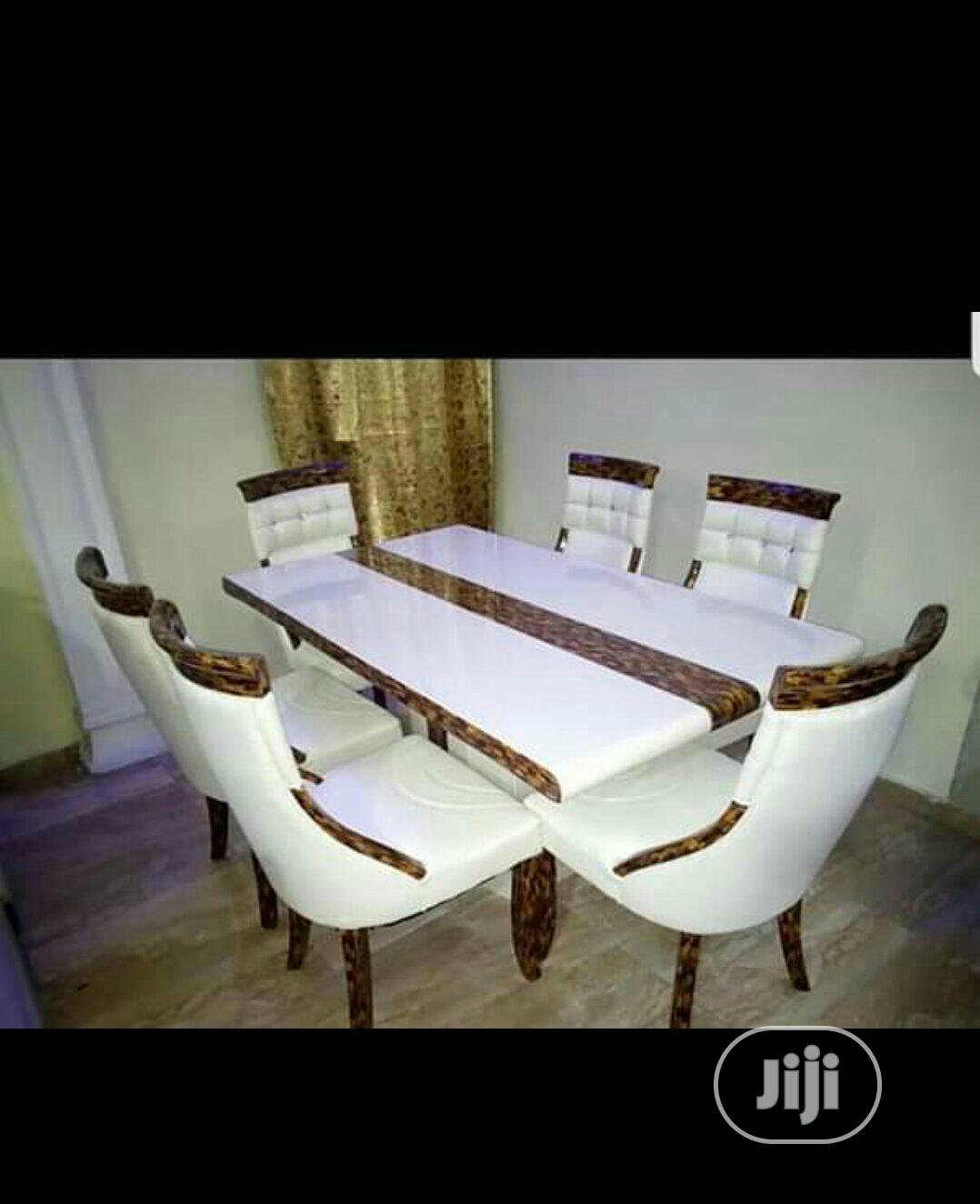 Marble Dining By 6classic Chair | Furniture for sale in Kano Municipal, Kano State, Nigeria