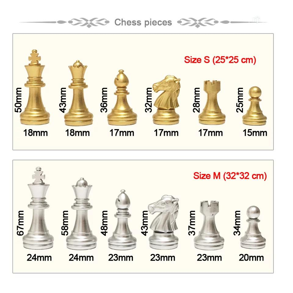 Chess Set Magnetic Foldable Board With Golden Silver 32 Chess Pieces | Books & Games for sale in Lekki Phase 1, Lagos State, Nigeria