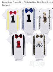 Baby Boy's First Birthday Infant Bodysuit and Short | Children's Clothing for sale in Lagos State, Ikeja