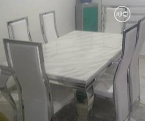 This Is High Brand New Six Seaters Dining Table White Colour   Furniture for sale in Lagos State, Lekki