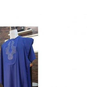 Men Short Sleeve Agbada-Royal Blue With Embroidery   Clothing for sale in Lagos State, Ojodu