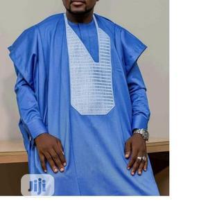 Men Long Sleeve Agbada Native-Sky Blue | Clothing for sale in Lagos State, Ojodu