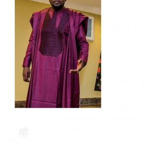 Men Long Sleeve Agbada Native-Wine   Clothing for sale in Lagos State, Ojodu