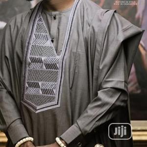 Men Long Sleeve Agbada Native-Grey   Clothing for sale in Lagos State, Ojodu