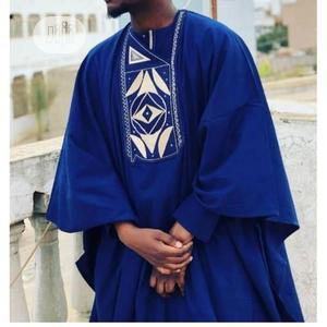 Men Long Sleeve Agbada Native-Royal Blue | Clothing for sale in Lagos State, Ojodu