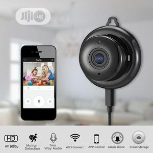 V380 1080P HD Night Vision Camera Wifi Mini Camera - Black | Security & Surveillance for sale in Lagos State, Ikeja