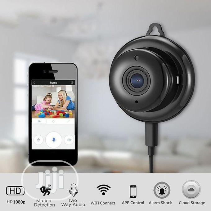 V380 1080P HD Night Vision Camera Wifi Mini Camera - Black