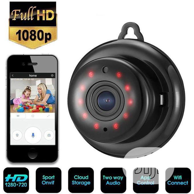 V380 1080P HD Night Vision Camera Wifi Mini Camera - Black | Security & Surveillance for sale in Ikeja, Lagos State, Nigeria