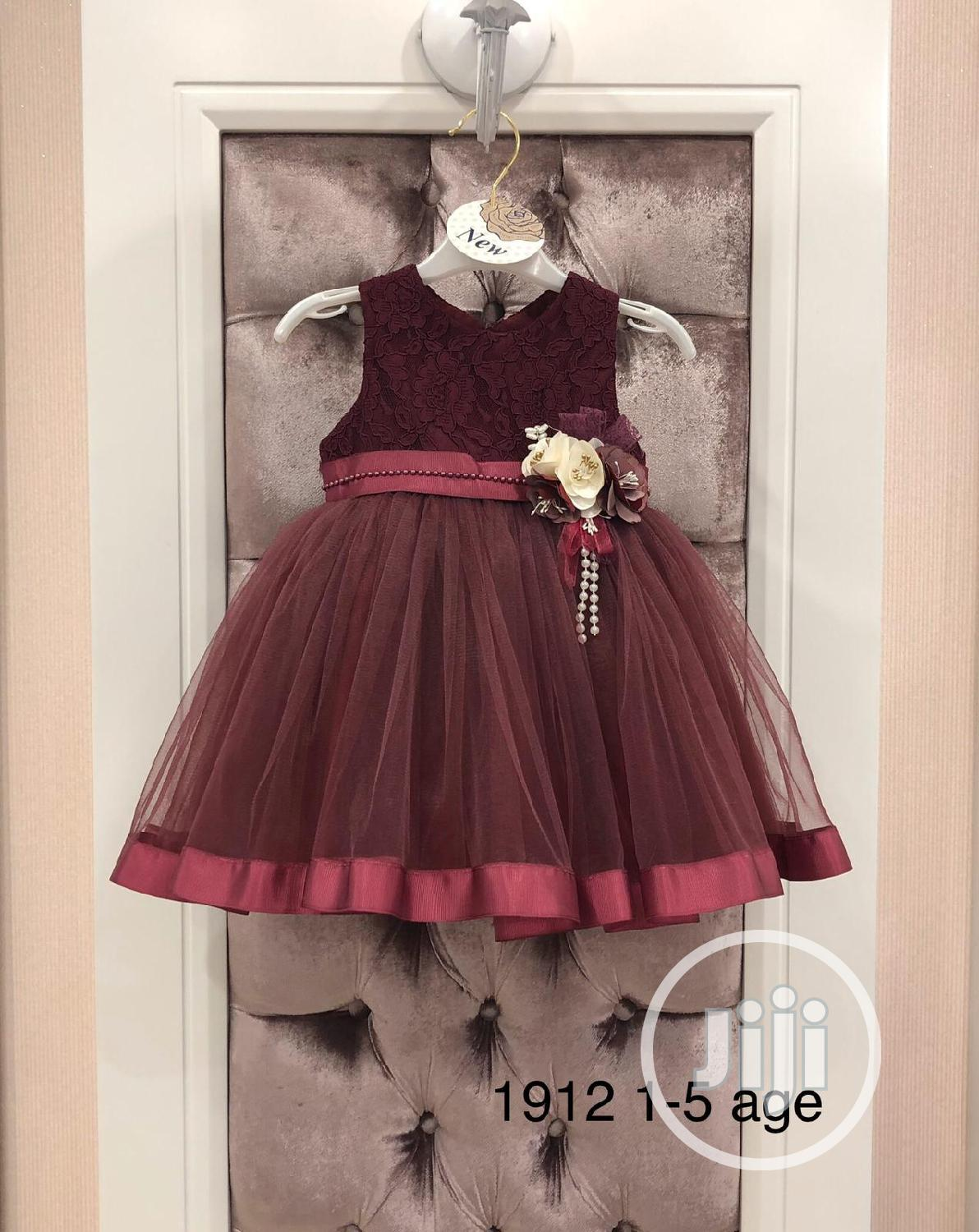 Wine Dress for Infant Toddlers
