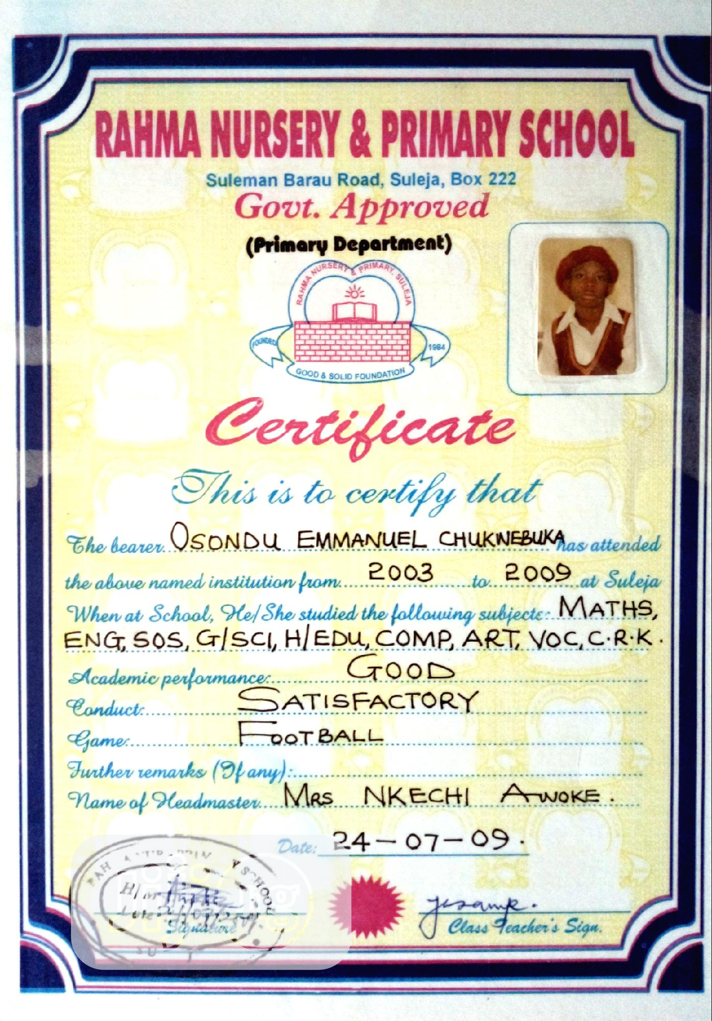 Hotel CV | Hotel CVs for sale in Suleja, Niger State, Nigeria