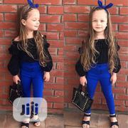 Girl's High Waist Trouser and Top 2pc Set   Children's Clothing for sale in Ondo State, Akure